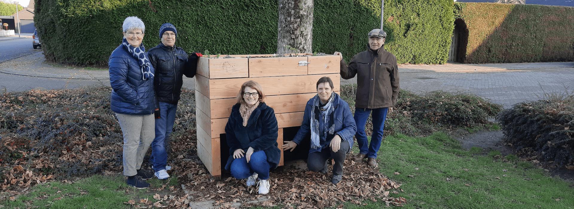 Groepsfotot van de groep wormenhotel gebruikers in Seventum (Horst aan de Maas)